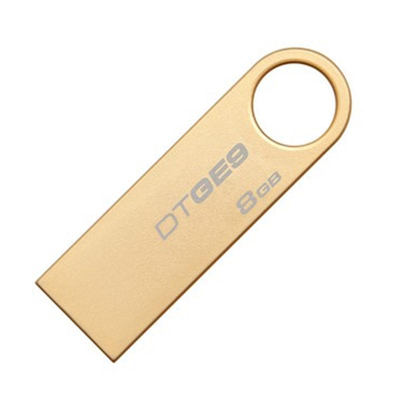 金士顿 DTGE9-8GB 金属U盘 金色超薄 8GB
