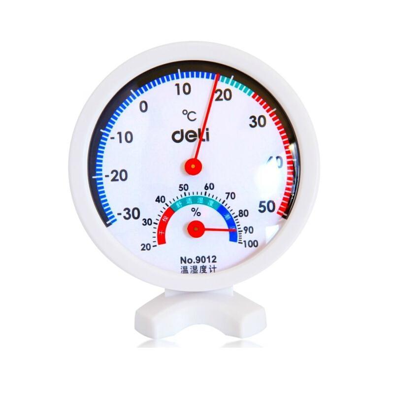 得力 9012 室内外高精度温湿度计 75*20mm