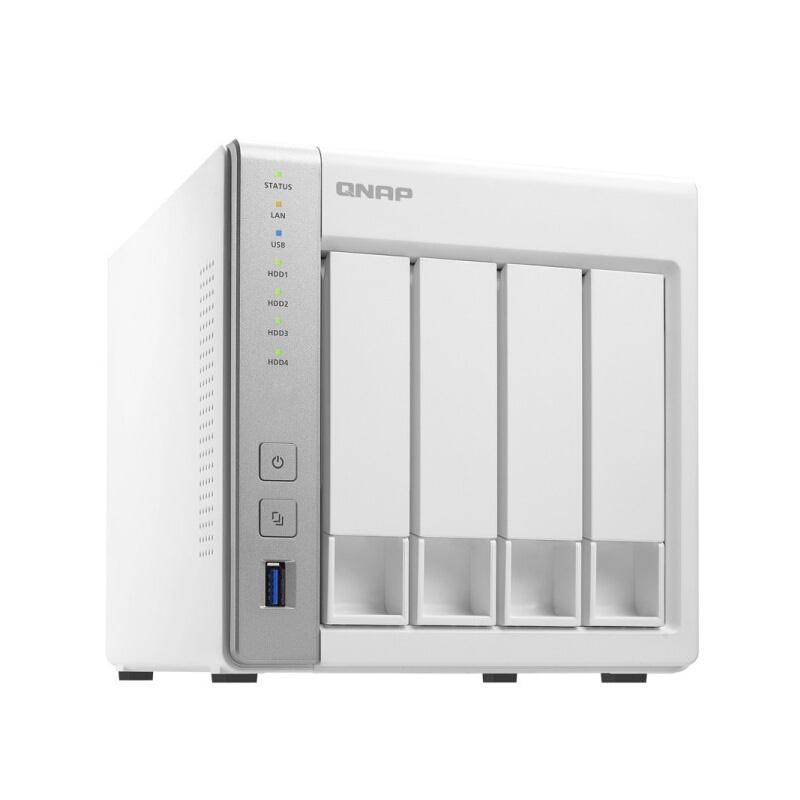 威联通 TS-431 含WD2T红盘 NAS四盘位网络存储 含WD2T红盘 双核浮点运算1.2GHZ CPU 512MB內存