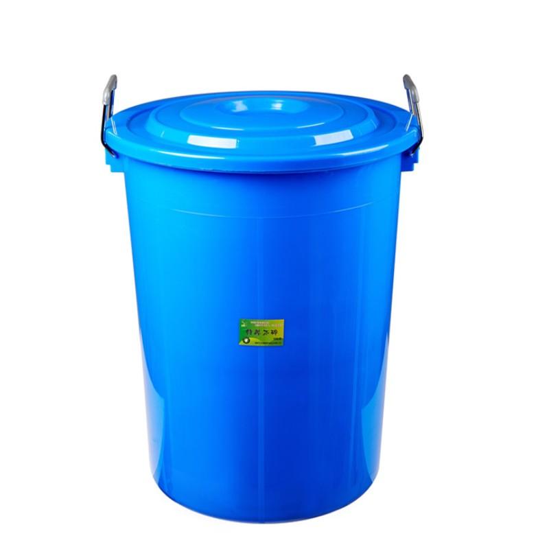 国产150l 垃圾桶 圆形塑料 环卫垃圾桶大水桶 食堂用