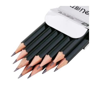 > 得力6834 原木素描铅笔 12支装