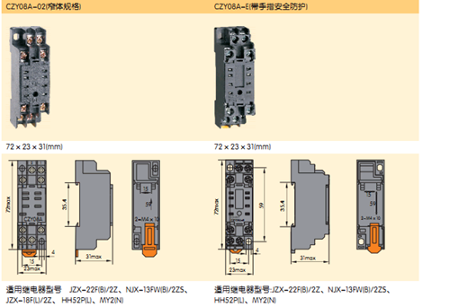 > 正泰电器继电器底座czy08a (jzx-22f-2z hh52p my2nj)