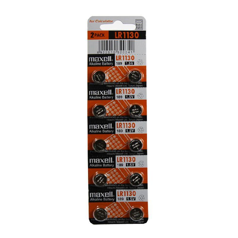 麦克赛尔 LR1130 碱性纽扣电池 1.5v (10粒/卡)