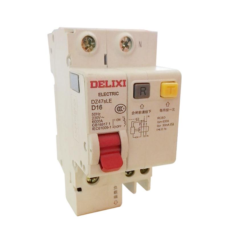 德力西 DZ47sLED16A 1P+N 漏电开关 50Hz 230V(计价单位:个)