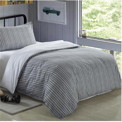 维众纯棉斜纹三件套 经典条纹蓝 150*215cm 适合1.2m床