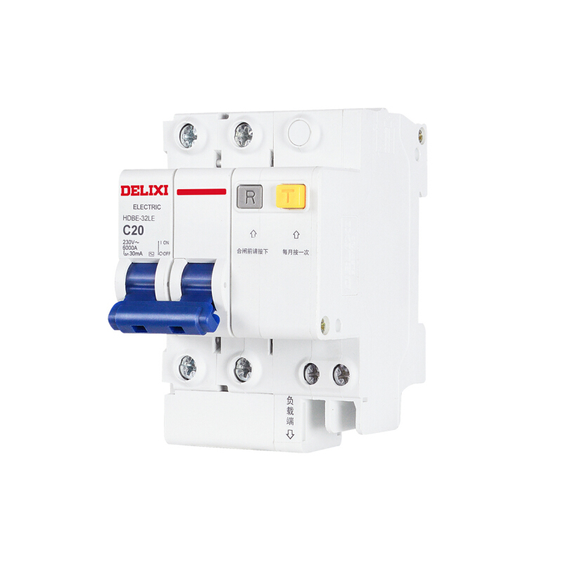 德力西 HDBE32LE C20 空气开关 家用小型漏电保护断路器