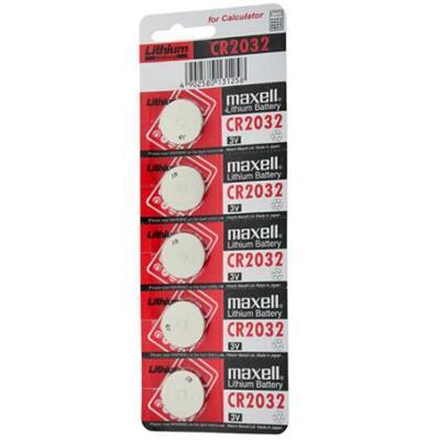麦克赛尔 CR2032 纽扣电池 适用于汽车钥匙 遥控器 电子秤 3D眼镜 5粒/卡 3V (计价单位:卡)